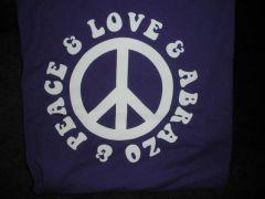 Peace, Love & Abrazo (purple)