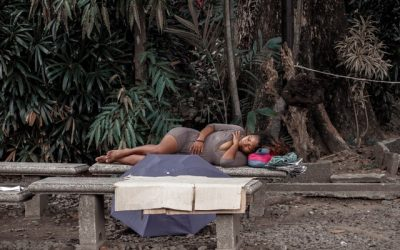 Pregnant and Sleeping in the Park